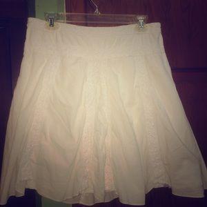 White Crochet Mini Skirt